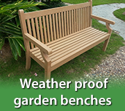 Weather Proof Benches Gardencentreshopping