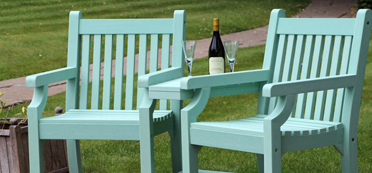 Choose a garden bistro set for two