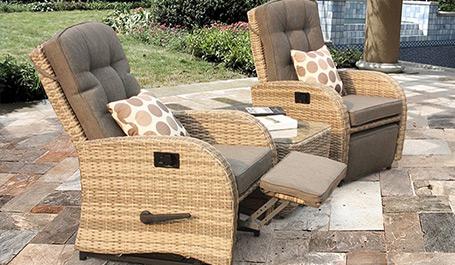 Brilliant Reclining Rattan Garden Furniture Babyplants Theyellowbook Wood Chair Design Ideas Theyellowbookinfo